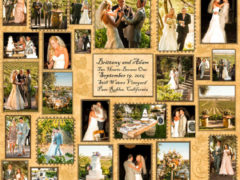 Wedding Memory Quilt Wall Hanging