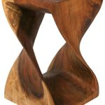 Twisted Wood Tables – Can Also Double as a Stool