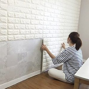 3D Wall Panels - White Brick Look