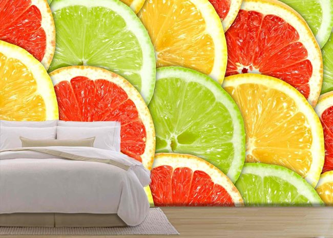 Spectacular Citrus Wall Graphic