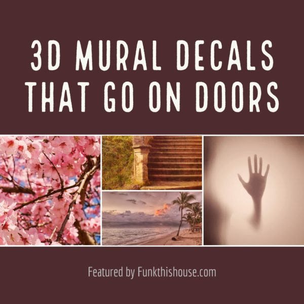 3D Mural Decals that go on Doors