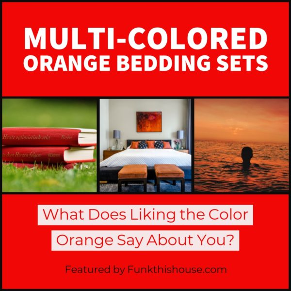 Multi Colored Orange Bedding