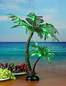 Table Top Lighted Palm Tree
