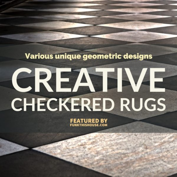 Checkered Geometric Rugs