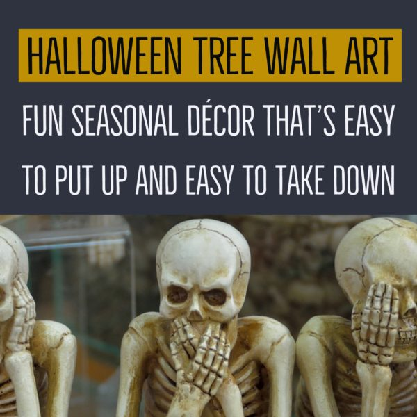 Halloween Tree Wall Art