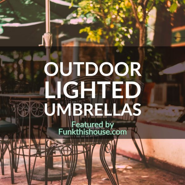 Outdoor Lighted Umbrella