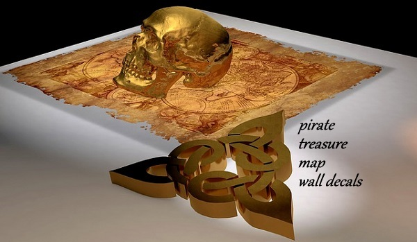 Pirate Treasure Map Wall Decals