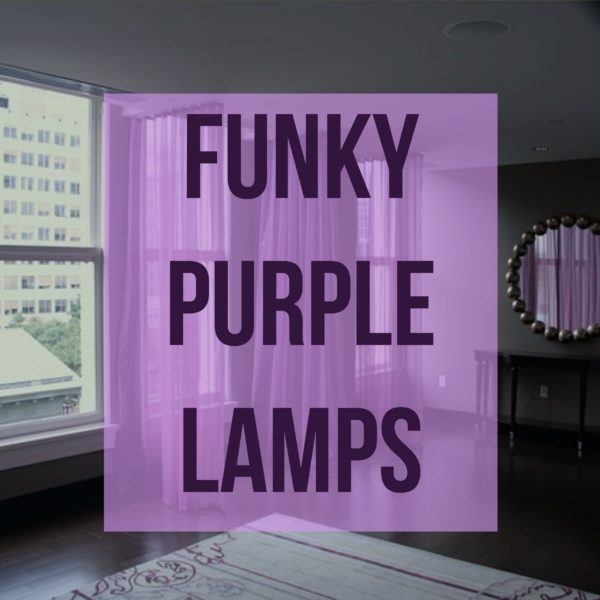 Funky Purple Lamps