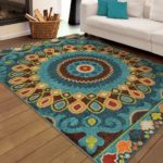 Yellow Blue Area Rug