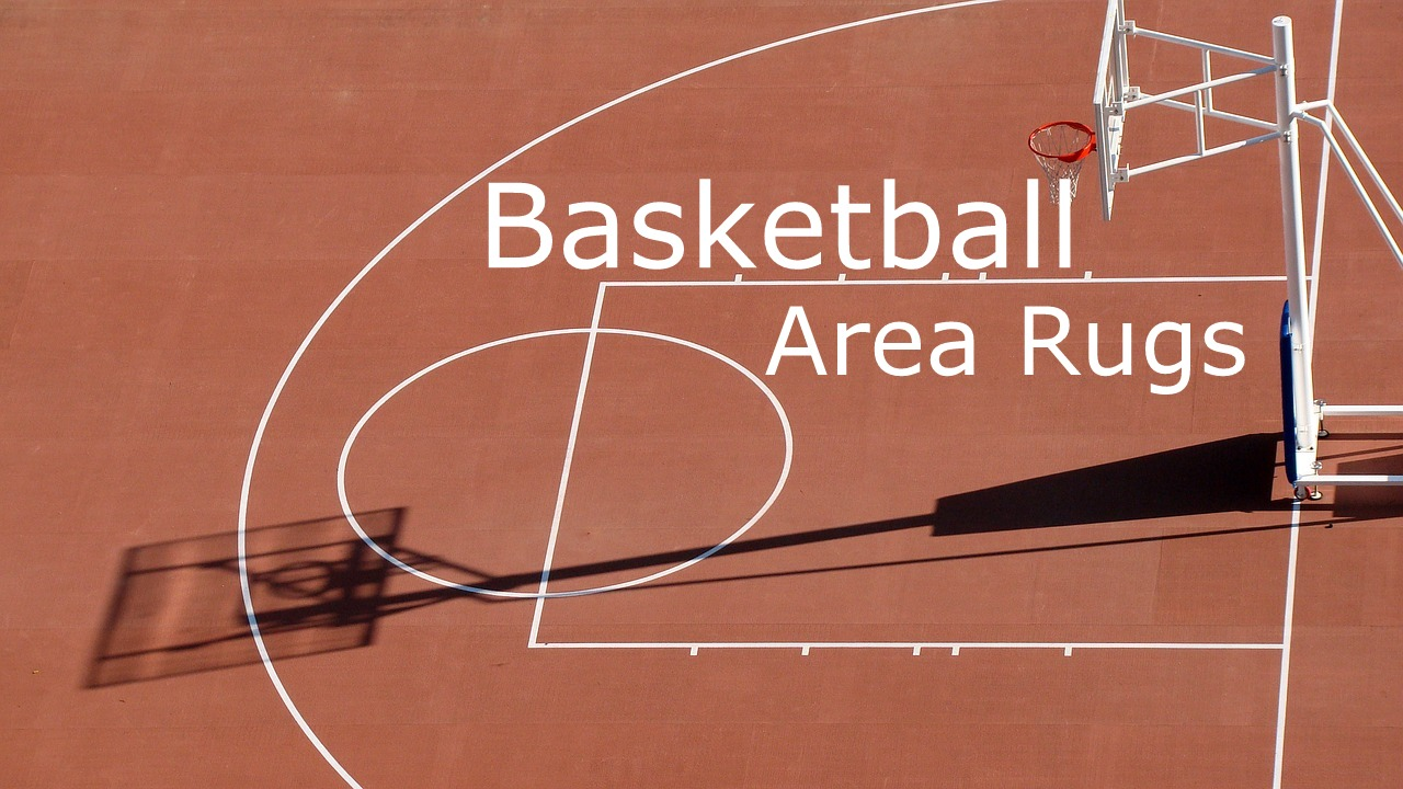 Funky Sports Decor With Basketball Area Rugs