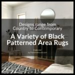 Black Patterned Area Rugs
