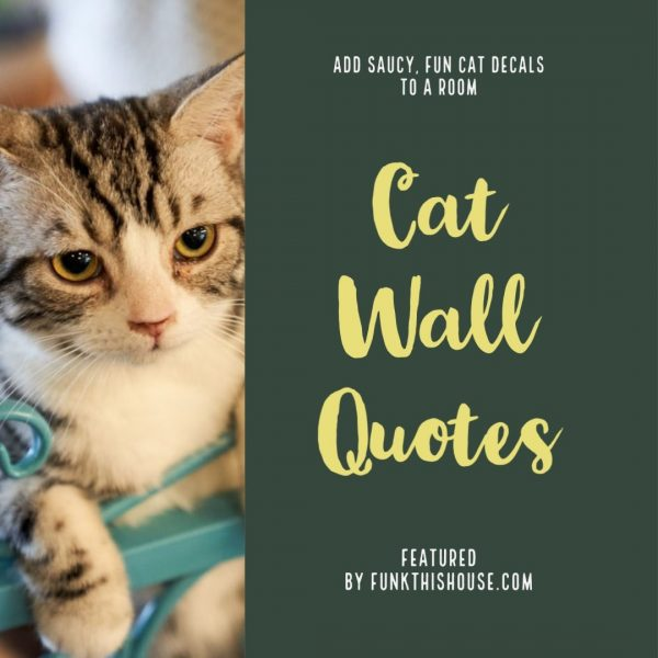Cat Wall Decal Quotes