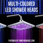 Multi Colored LED Shower Head