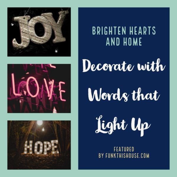 Decorate with Words that Light Up using LED Wall Signs