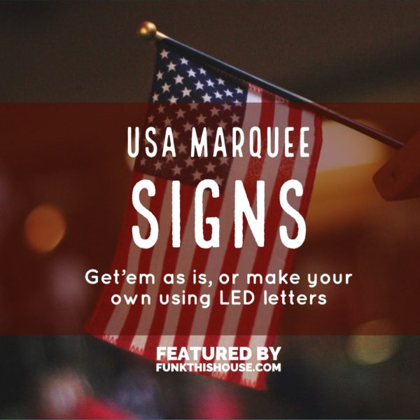 USA Marquee Sign
