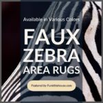Zebra Area Rugs Available in Various Colors