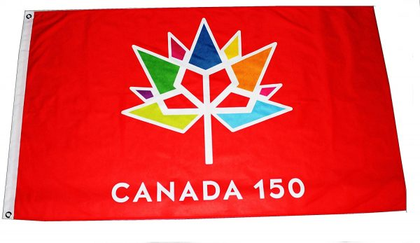 Officially Licensed Canada 150 Flag