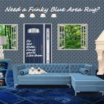 Funky Blue Patterned Area Rugs
