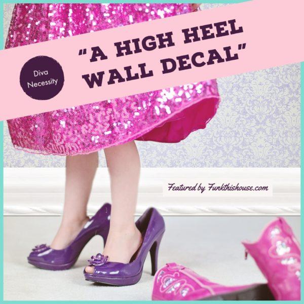 High Heel Wall Decals