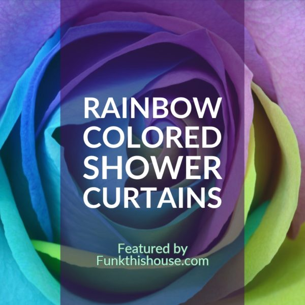 Rainbow Colored Shower Curtains