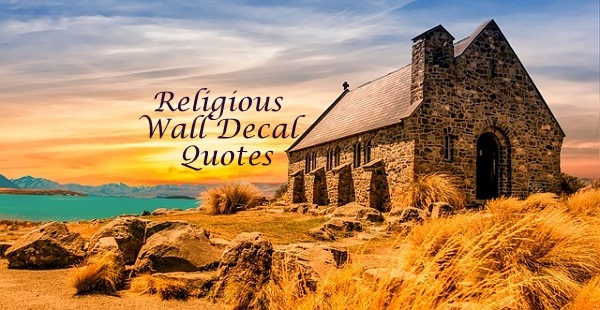 Religious Wall Quote Decals