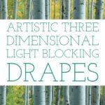 3D Light Blocking Drapes