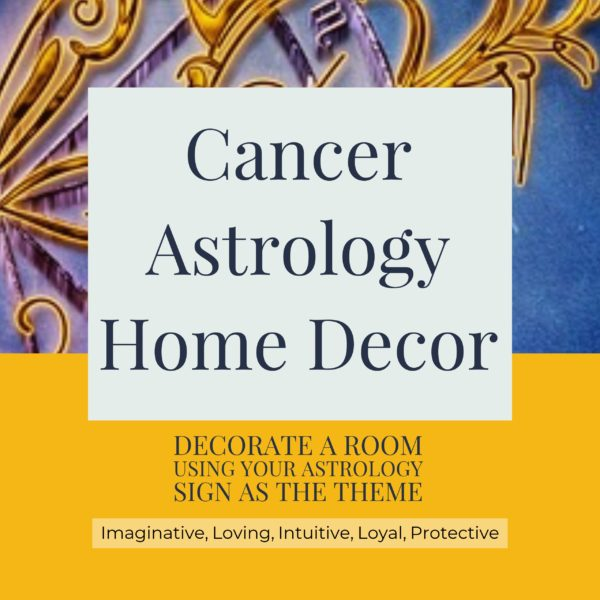 Cancer Astrology Home Decor