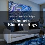 Geometric Blue Area Rugs