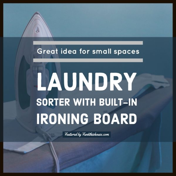 Laundry Sorter with Built-in Ironing Board