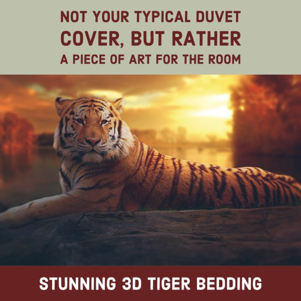 3D Tiger Duvet Bedding Set