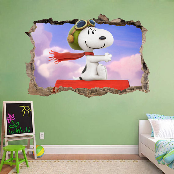 Snoopy Vinyl Wall Decals & Snoopy Vinyl Wall Decals - Colorful Different and Animated