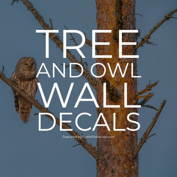 Tree and Owl Wall Decals