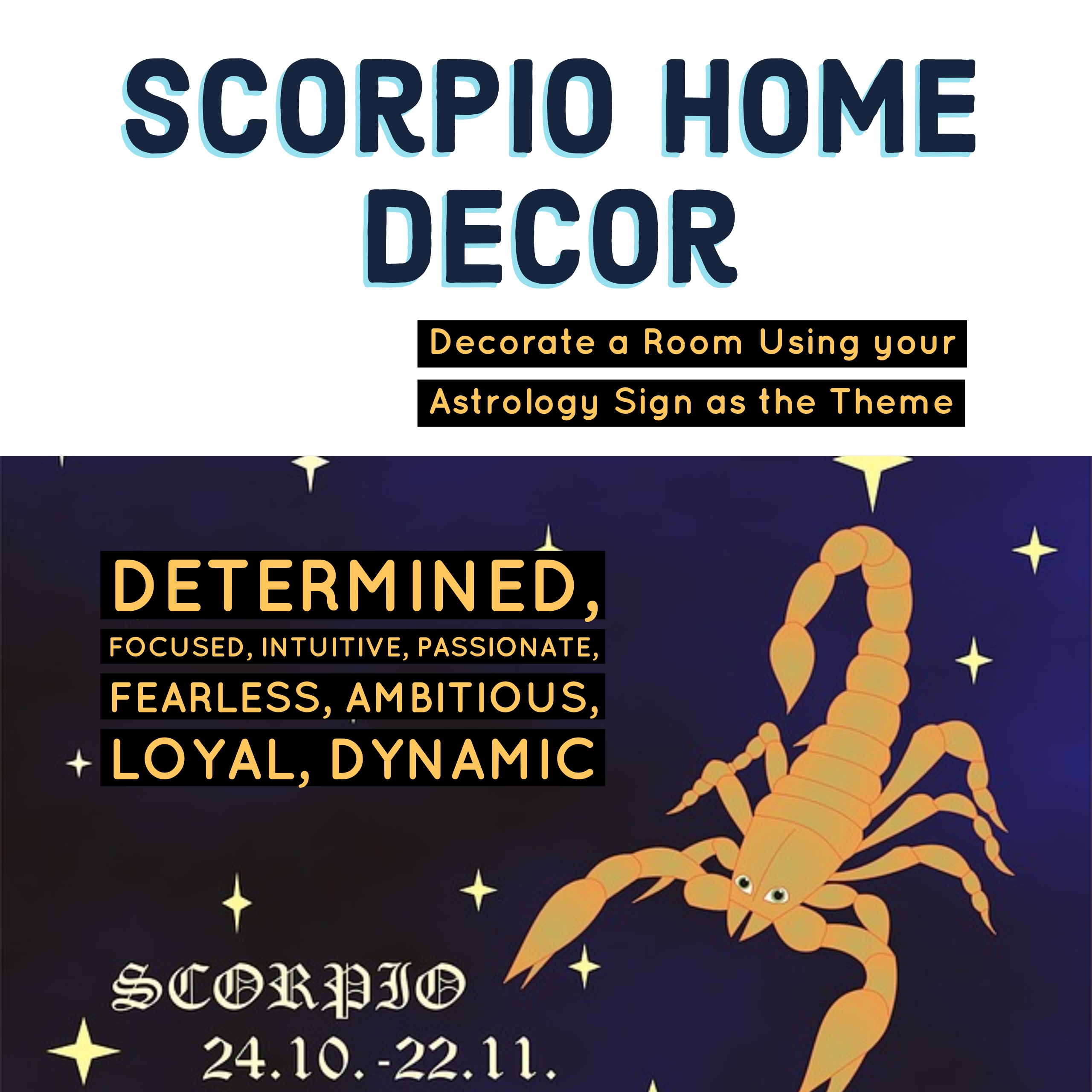 Scorpio Home Decor