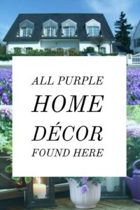 All Purple Home Decor Featured Here