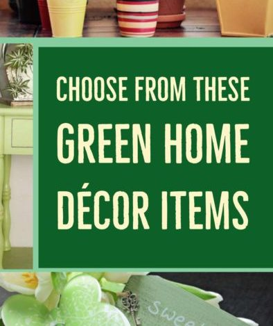 Green Home Decor Items