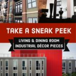 Classic Industrial Decor Pieces for a Living and Dining Room