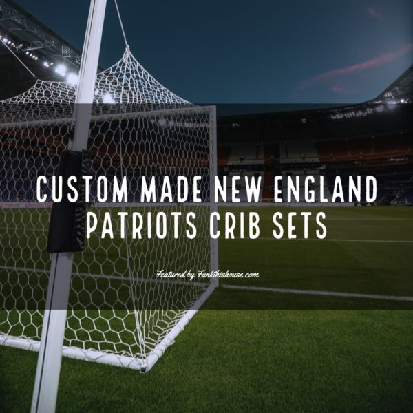 Custom Made New England Patriots Crib Sets