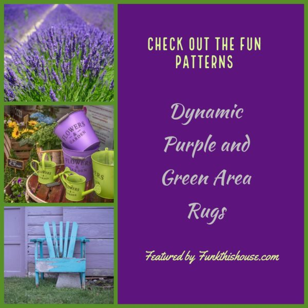 Purple and Green Area Rugs