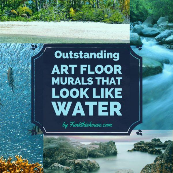 3D Floor Murals that Look Like Water