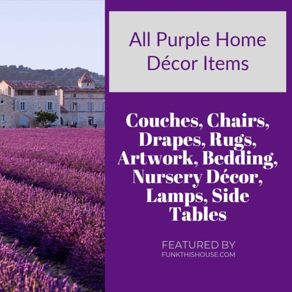 Purple Home Decor Items