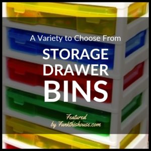 Storage Drawer Bins