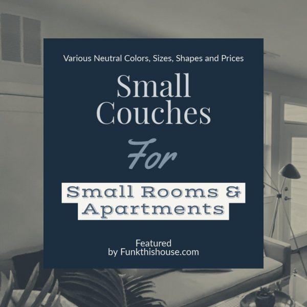 Small Couches for Apartments and Small Rooms
